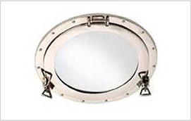Marine hatch in polished stainless steel