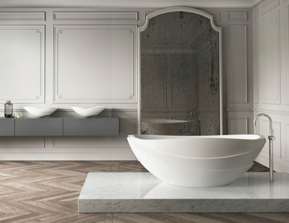 Kelly Hoppen bathroom design idea for Brabbu shown at the Maison & Objet exhibition in Asia in March 2015