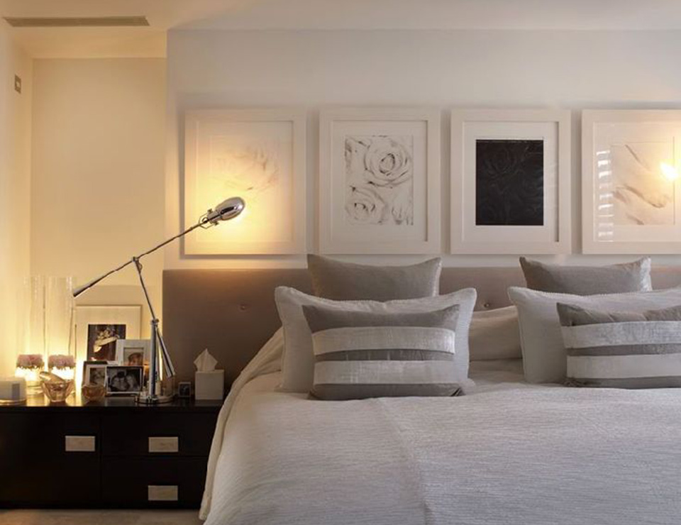 Bedroom at Kelly Hoppen's own home in Notting Hill which was sold in 2011.