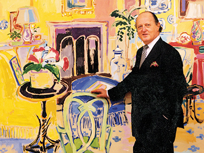 A review of the life and work of the great and influential interior designer Mario Buatta, The Prince of Chintz