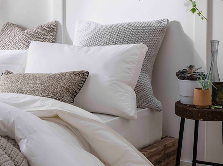 re made made interior design Vegan-Friendly recycled plastic cushions and duvets The Fine Bedding  Company who have introduced NIMBUS