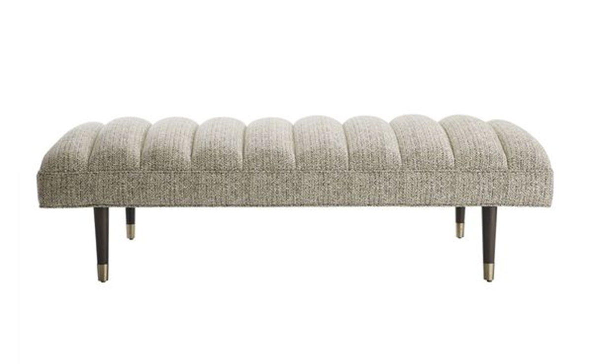 Christophe Bench Driftwood Tweed by Arteriors