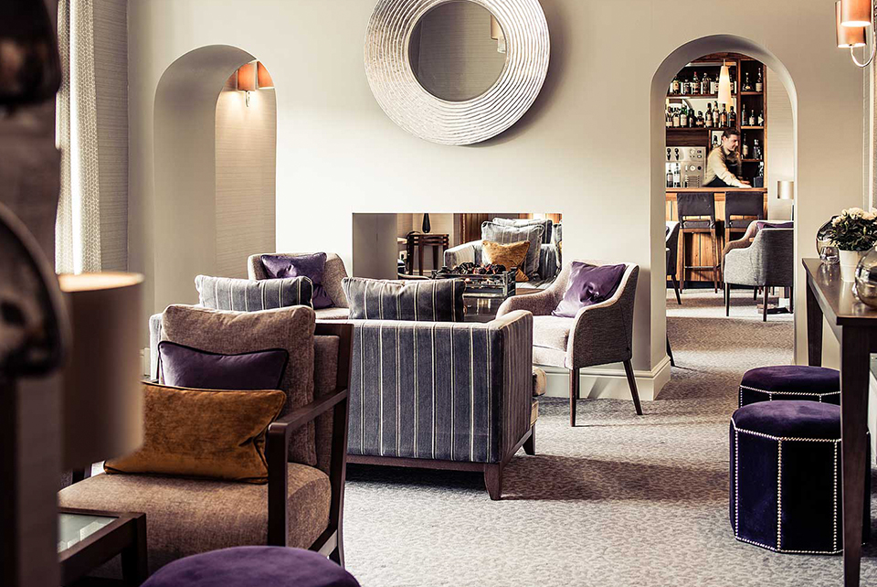 Interior of the lounge in Rothay Garden Hotel, Ambleside, Lake District