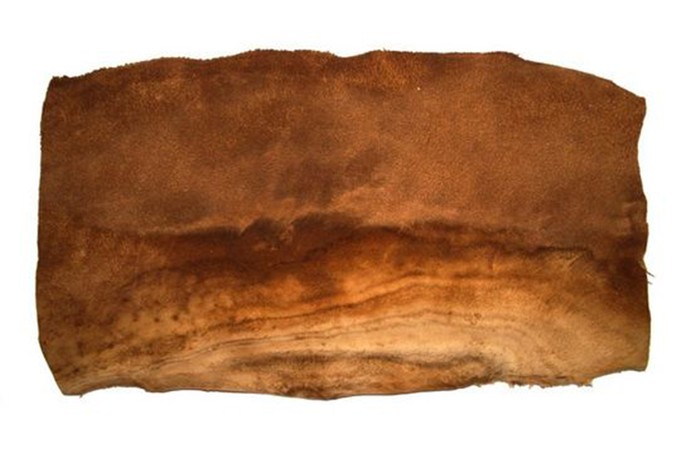 A Peta-approved vegan leather or suede, MuSkin is made from a 100 % vegetable base – the Phellinus ellipsoideus, a type of large parasitic fungus, or mushroom, that grows in subtropical forests. The texture is very similar to suede.