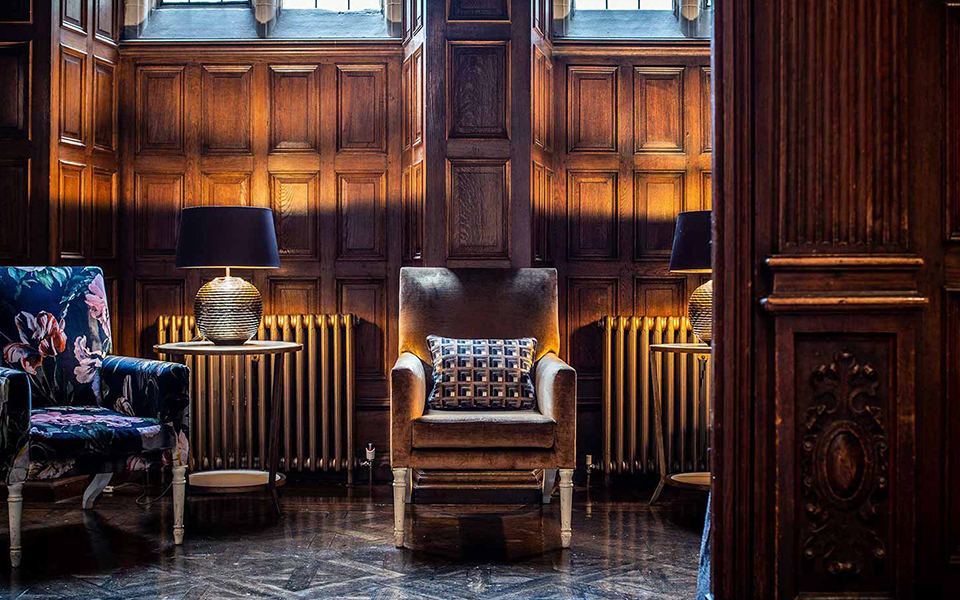 Interior of Jesmond Dene House Hotel, Newcastle upon Tyne by Karen Walker Interior Design