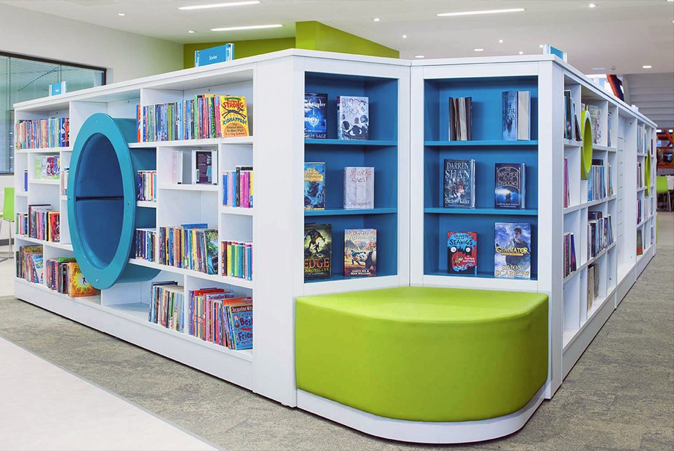 Interior of Ashington Library, Northumberland by Karen Walker Interior Design