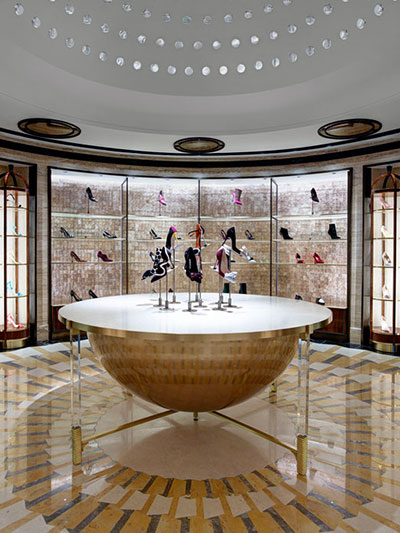Shoe Heaven, Harrods, London by David Collins Studio with Carl Michael Harris. Capturing a timeless feel inspired by the 1920s and 1930s.