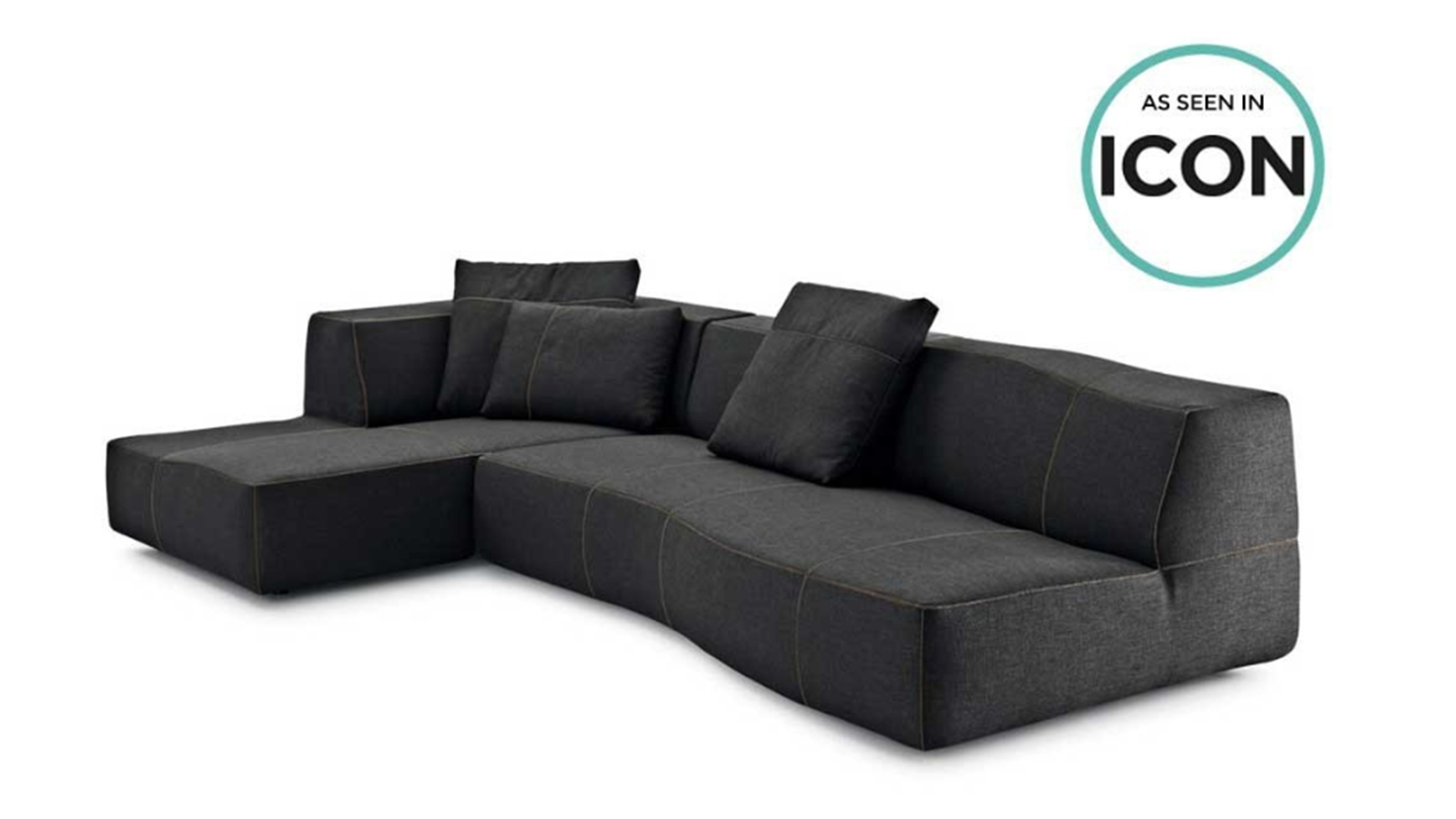 "This is the wrong way to show a sofa product. The image has text/graphics included which shouts ""retail"" to a professional specifier. Most retailers are not set out for, or geared towards, serving professional interior designer customers so it is important not to appear as a retailer to a professional interior design audience."