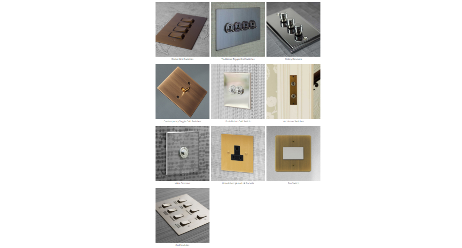 "The product images shown above of light switches, although a charming product, are hard to scan through quickly as it is hard to ""read"" them and move on to the next – each product is presented at a different angle which causes the viewer's brain to turn similar somersaults in deciphering the product."