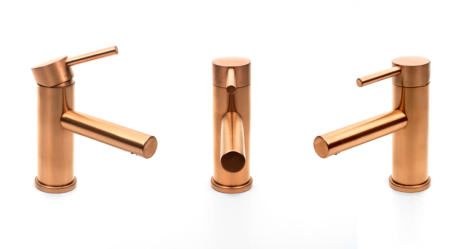 Here is an example of how to visually present a tap product, this is the JDL DB Monobloc Mixer tap DB1650 in Double Stone Steel PVD coloured stainless steel Copper Brush. These images have a plain background and the tap is shown in its entirety from different angles.